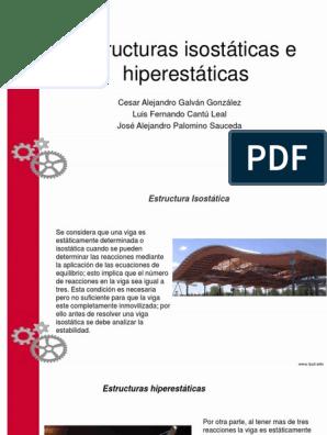 Estructuras Isostáticas E Hiperstaticas Física Y