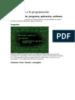 Introducción a La Programación Javascript Clase 01