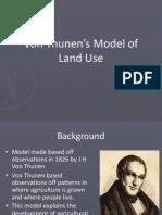 von thunens model of land use  1