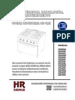 Datos t Cnicos Instalaci n Uso y Mantenimiento Cocina Industrial de Gas