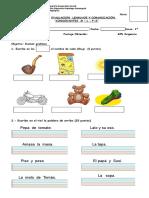 Evaluacion Consonantes m y l s p Primero