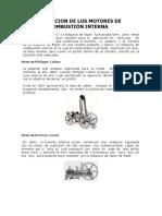 EVOLUCION DE LOS MOTORES DE COMBUSTIÓN INTERNA