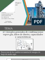 4.1 Arreglos Generales de Combinaciones Vapor-gas, Datos de Diseño, Capacidades y Características
