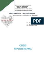 28.- Cardiovascular II - HTA II y Diureticos I (Presentacion)
