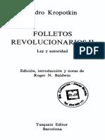 Kropotkin, Piotr - Folletos Revolucionarios 2. Ley y Autoridad [Tusquets, 1977]