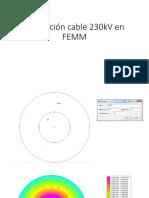 Simulación Cable 230kV en FEMM