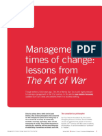 Management in Times of Change Lessons From the Art of War