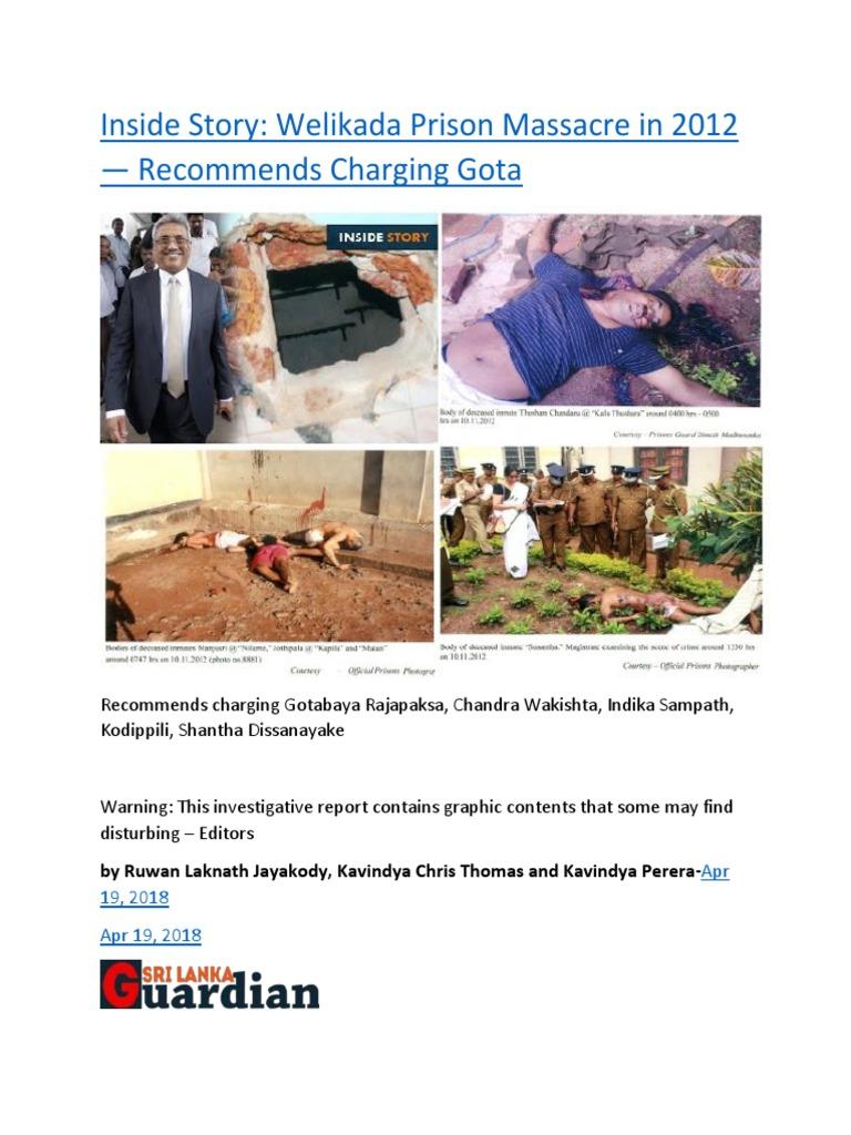 Inside Story Welikada Prison Massacre in 2012 — Recommends