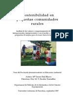 Sustentabilidad en pequeñas comunidades rurales