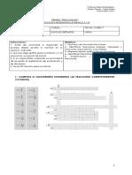 Evaluación Quinto Fracciones