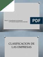 clasificacion de empesas