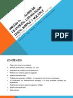 Unidad III Análisis de Regresión, Correlación Lineal ESTADISTICA 2