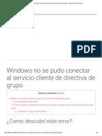 Windows No Se Pudo Conectar Al Servicio Cliente de Directiva de Grupo - David Del Río Pascual