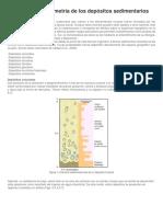 Litología y Granulometría de Los Depósitos Sedimentarios 2018