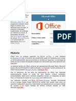 Reseña Histórica de Microsoft OFFICE
