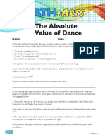 absolute value of dance handout