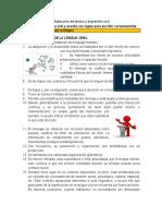 ADA 1. Esquematizando La Lengua. Características de La Lengua Oral y Escrita