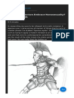 Did Spartan Warriors Embrace Homosexuality by Kayla Jameth