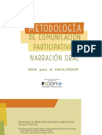 Metodologia Comunicacion Participativa Narracion Oral