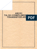 TA-101 NPN-PNP Array Datasheet Small