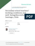 Condiciones de Trabajo y Salud Docente Cornejo Educacion y Sociedad