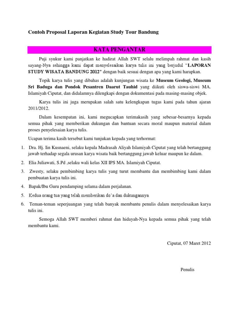 Contoh Daftar Isi Laporan Study Tour Materi Pelajaran 2