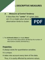 Descriptive Measures