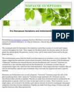 Pre Menopause Symptoms and Understanding Hormones