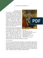 Analisis Iconográfico de La Anunciación