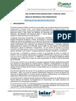 TDR Especialista en Gestion de Proyectos