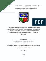 Evolución de Los Componentes Volátiles Del Pisco