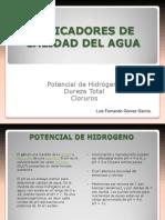 Indicadores de Calidad Del Agua Exposic