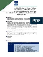 Temario Valorizacion y Liquidacion de Obras