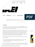 Grounding Resistance and Spacing of Ground Rods ‹ IAEI Magazine