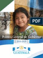 Política General de Gobierno