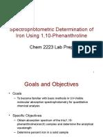 Spectrophotometric Determination of Iron Using 1,10-Phenanthroline.ppt