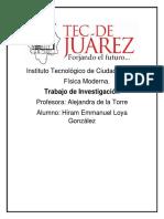 Trabajo de Investigación-Física Moderna