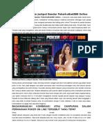 Kombinasi Kartu Jackpot Bandar Pokerhotbet888 Online