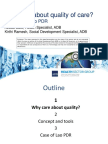Why care about quality of care? – The case of Lao PDR' health system