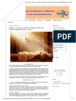 Iglesia Fe Apostolica y Profetica_ Jesús y La Cruz, La Única Fuente Legal de Poder Sobrenatural. Parte III