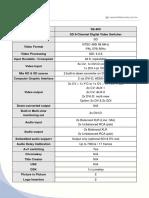 SE-600 Spec Sheet