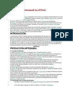 Producción Artesanal en El Perú