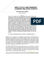 Attachment Style and Memory for Attachment-related Events