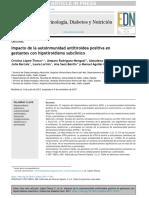 Impacto de la autoinmunidad antitiroidea positiva en gestantes con hipotiroidismo subclínico