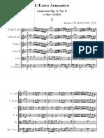 Vivaldi 2 Violines La m Score