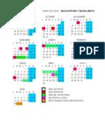 Calendario Escolar 2017 2018 y Bachillerato y Fp