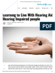 Learning to Live With Hearing Aids for Hearing Impaired People