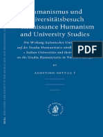 Agostino Sottili-Humanismus Und Universitatsbesuch - Renaissance Humanism and University Studies (Education and Society in The