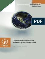 La personalidad jurídica en la desaparición forzada - Colección CNDH - Jorge Verástegui González
