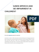 What Causes Speech and Language Impairment in Children